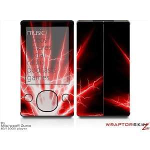 Zune 80/120GB Skin Kit   Lightning Red plus Free Screen Protector by