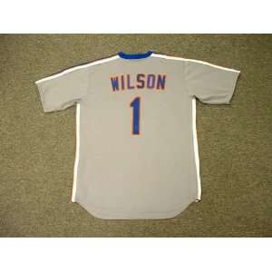 MOOKIE WILSON New York Mets 1987 Majestic Cooperstown Throwback Away