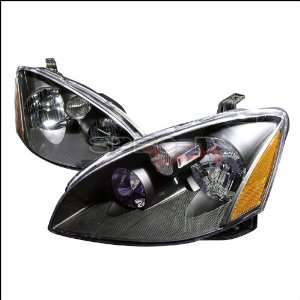 Nissan Altima 2002 2003 2004 Euro Headlights   Black