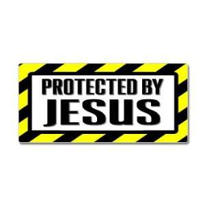 Protected By Jesus   Window Bumper Sticker Automotive