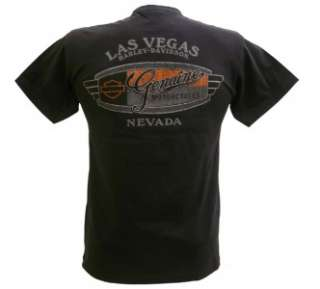 Harley Davidson Las Vegas Dealer Tee T Shirt Pinup Girl BLACK MEDIUM