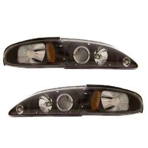 1994 1998 Ford Mustang KS Black Halo Projector Headlights
