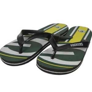 Green Bay Packers Unisex Big Logo Flip Flops   Small