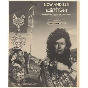 1988 Robert Plant Now and Zen Album Promo Print Ad (Music Memorabilia