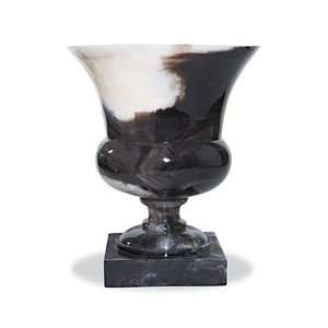 Black Marble Short Resin Vase