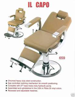 659 CAPO BARBER CHAIR / SALON ALL PURPOSE CHAIR, AMERICAN MADE