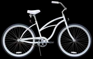 26 Beach Cruiser Bike w Shimano Coaster Brake White