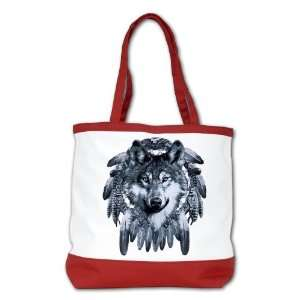 Shoulder Bag Purse (2 Sided) Red Wolf Dreamcatcher