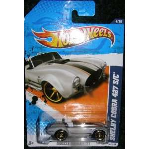 2011 HOT WHEELS MUSCLE MANIA 11 SILVER 7/10 SHELBY COBRA 427 S/C