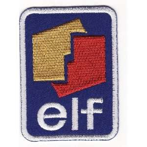 elf OIL & GAS RACING CAR EMBROIDERED IRON ON PATCH T98