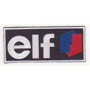 elf OIL & GAS RACING CAR EMBROIDERED IRON ON PATCH T176