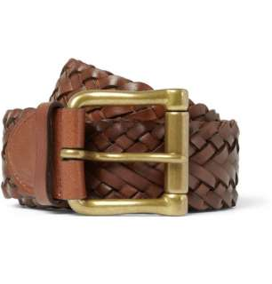 Ralph Lauren  Braided Leather Belt  MR PORTER