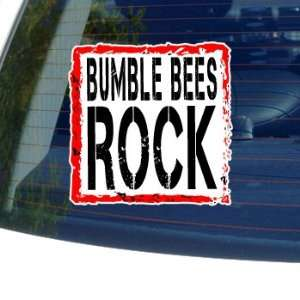 Bumble Bees Rock   Window Bumper Laptop Sticker