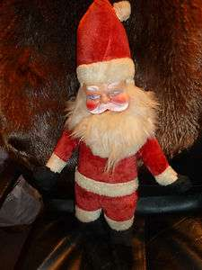 RUBBER FACE SANTA DOLL BEAR FROM OLD GUND RUSHTON GROUP IM SELLING