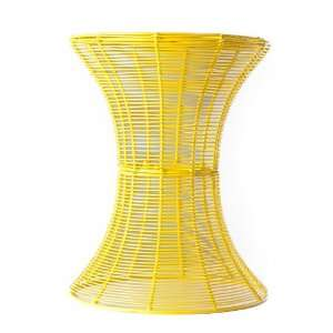 Indoor/Outdoor Round Metal Accent Table   Yellow