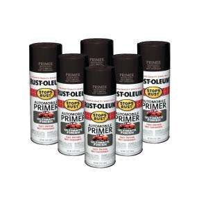 Rust Oleum Stops Rust 12 oz. Dark Gray Automobile Primer Spray (6 Pack