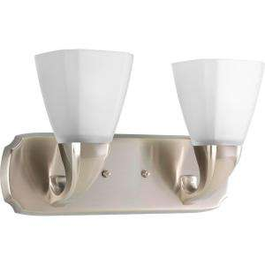 Progress Lighting Addison Collection Brushed Nickel 2 light Vanity