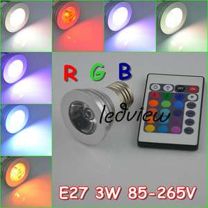 16 Color Changing RGB LED Light Bulb Lamp 85~265V + IR Remote