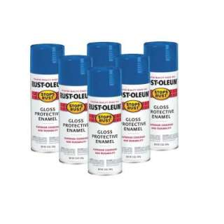Rust Oleum Stops Rust 12 oz. Gloss Sail Blue Spray Paint (6 Pack