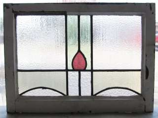 Antique Stained Glass Window Simple Purple Art Nouveau Bloom