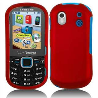 Red Rubber Hard Case Cover Samsung Intensity II 2 U460