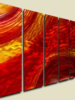 Abstract Wall Art Painting Red Orange Gold Sculpture Decor