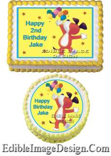 KIPPER THE DOG Birthday Edible Party Cake Image Cupcake Topper Favor