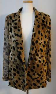 Leopard Animal Print Tuxedo Boy Friend Career Casual Blazer Jacket