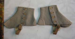 WWII ORIGINAL GERMAN WEHRMACHT OFFICER'S WOOL GAITERS