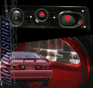 1987 1993 FORD MUSTANG EURO TAIL LIGHT BLACK GT LX 92