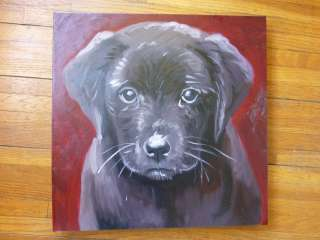 Labrador Puppy POP Art Dog Original Oil Painting Canvas