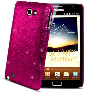 London Magic Store   Hot Pink Sparkle Glitter Hard Case Cover Samsung