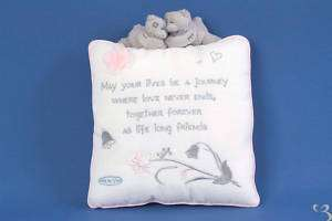 ME TO YOU WEDDING RING VERSE CUSHION TATTY TEDDY BEAR NEW GIFT