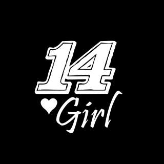 14 Tony Stewart Nascar Racing Girl Window Vinyl Decal Sticker