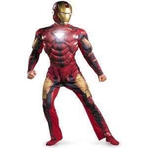 Man 2 (2010) Movie   Iron Man Mark 6 Light Up Deluxe Adult Costume