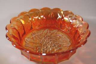 Carnival Imperial Glass Marigold HEAVY GRAPE 8 Bowl