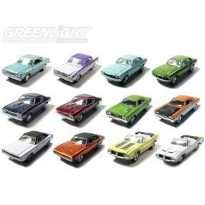 Set of 12 Muscle Car Garage Stock & Custom Wave 7 1/64
