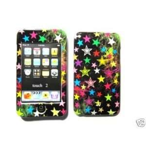 Apple Ipod Touch 2nd 3rd Generation Rainbow Star Design Black Case