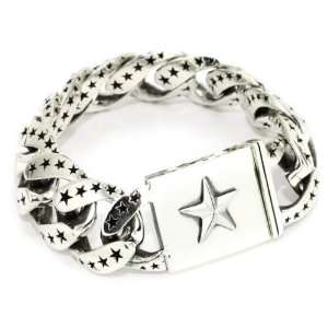King Baby Mens Extra Large Star Link Bracelet Jewelry