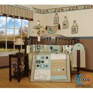 Boutique Brand New GEENNY Baby Boy Artist 13PCS CRIB BEDDING SET Baby