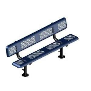 Webcoat Perforated Style Benches 6Ft. Bench with Back, Large Hole 11