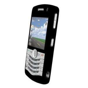Blackberry Pearl 8130 8120 Silicone Case   Black Cell