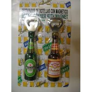 3D Beer Bottle Shaped & Soda Bottle Opener & Magnet ~ 2 pc Set