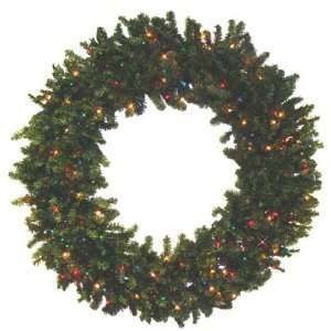 Pine Artificial Christmas Wreath   Multi Lights