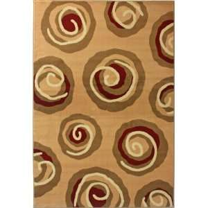 NEW Area Rug Modern Gold 5 3 x 7 9 Modern Swirls