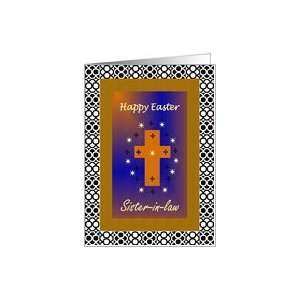 Happy Easter / Sister in law / Framed Cross Card Health