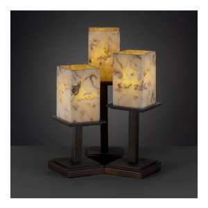 Design Group ALR 8697 15 DBRZ Alabaster Rocks 3 Light Table Lamps
