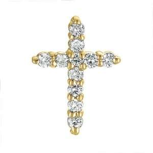 14k Yellow Gold Diamond Cross Pendant   JewelryWeb Jewelry