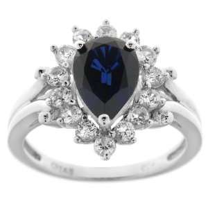 Diamond Accent Pear Shape Ring (0.008 cttw, I J Color, I2 I3 Clarity