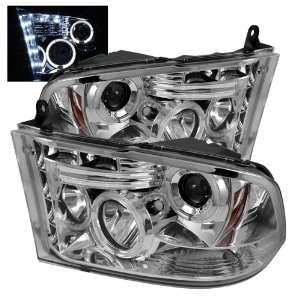 Spyder PRO YD DR09 HL C Dodge Ram 1500 Halo LED Chrome